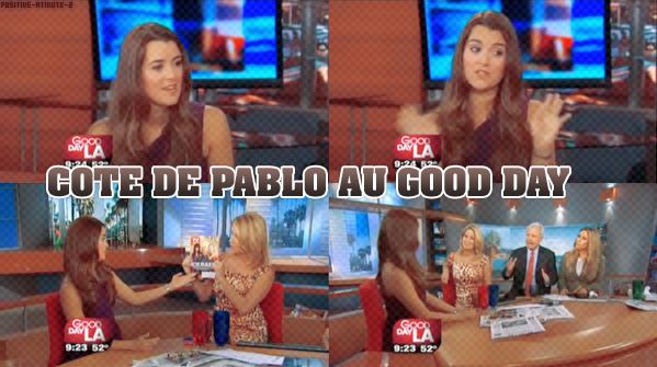 16/10/10 - NCIS - Interview de Cote De Pαblo αu Good Dαy LA.