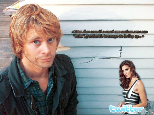 Daniela Ruah à poster via sur Twitter des photos d'Eric Christian Oslen pendant le tournage de l'épisode 13 d'NCIS:Los Angeles