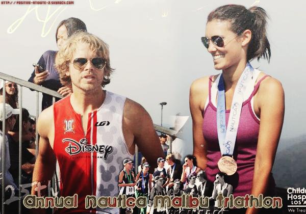 -18.09.11- Daniela Ruah à participer au 25éme Annuel Nautica Triathlon avec son co-star Eric CO