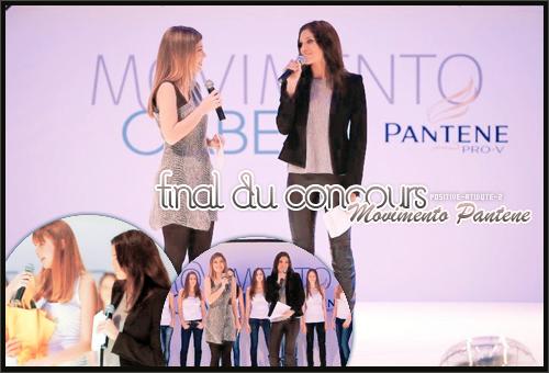 Daniela Ruah à la finale du concours Movimento Pantene en tant que jury