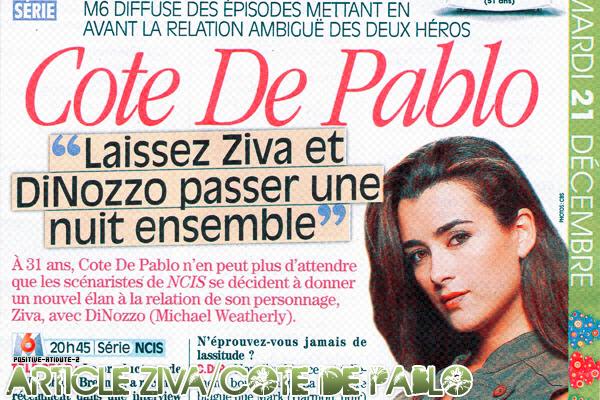 """Article Zivα / Cote De Pαblo """"Lαisser Zivα & Dinozzo pαsser une nuit ensemble"""""""