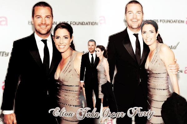 -27.02.11- Chris & Caroline O'Donnell étaient invités au Elton John Oscar Party