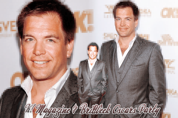 "Michael Weatherly au K! Magazine and Britweek Oscars Party accompagné de sa femme ""Bojana"""