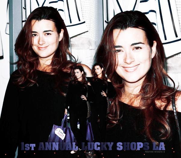 -04.04.11- Cote De Pablo au 1er Annuelle Lucky Shop à Los Angeles