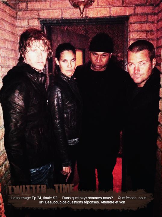 Daniela Ruah à posté une photo de l'équipe lors du tournage du dernière episode de la season 2 via son twitter