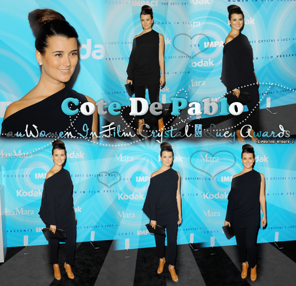-16.05.11- Cote De Pablo au Women In Film Crystal & Lucy Awards