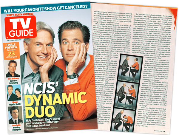 "Article Press Michael Weatherly et Mark Harmon ""NCIS DYNAMIC DUO"""