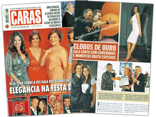 Article Press Daniela Ruah pour les Globos De Ouro 2011