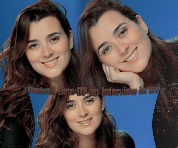 -17.05.11- Portrait de Cote de Pablo après un interview à New York