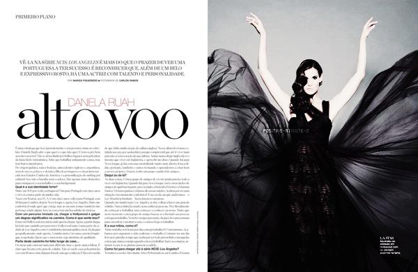 "Article Press: Interview de Daniela Ruah avec ""Maxima"" magazine"