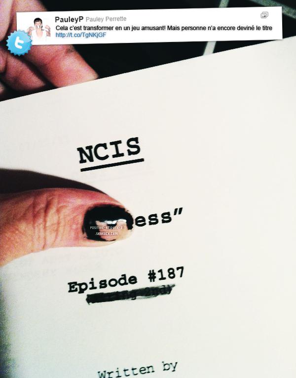 Découvre les photos du tournage de la season 9 de NCIS posté par Pauley Perrette via twitter