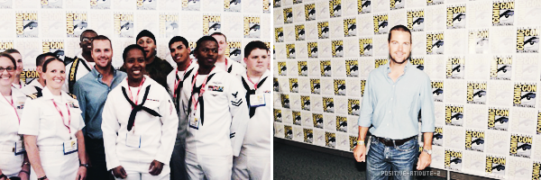 -23.07.11- Chris O'Donnell avec ses co-stars et le producteur Shane Brennan au panel du Comic-Con