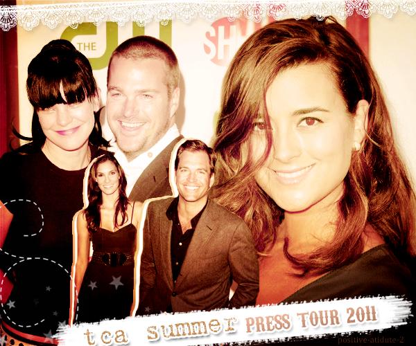 -03.08.11- Michael Weatherly , Chris O'Donnell , Cote De Pablo et Daniela Ruah aux Teen Choice Awards 2011