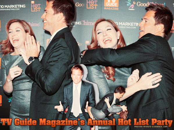 -07.11.11- Michael Weatherly au TV Guide Magazine's Annual Hot List Party avec Mark H, Sasha A & Pauley P