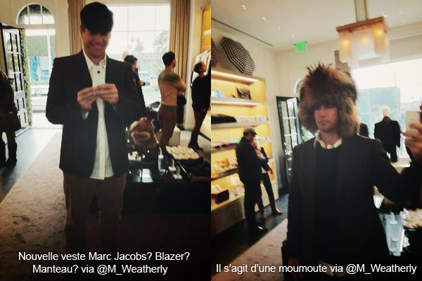 Michael Weatherly à posté deux photos de lui essayant des vêtements dans un magasin via son twitter