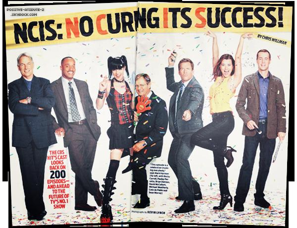 Michael Weatherly , Cote De Pablo et le reste du cast de NCIS en couverture dans TV Magzine Janvier 2012  NCIS FOREVER! TONY & ZIVA SONT-ILS DESTINES A L'AMOUR?