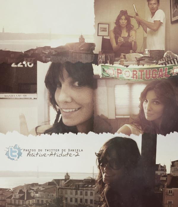Daniela Ruah à posté plusieurs photos de ses vacances au Portugal & au Late Late Show via son twitter