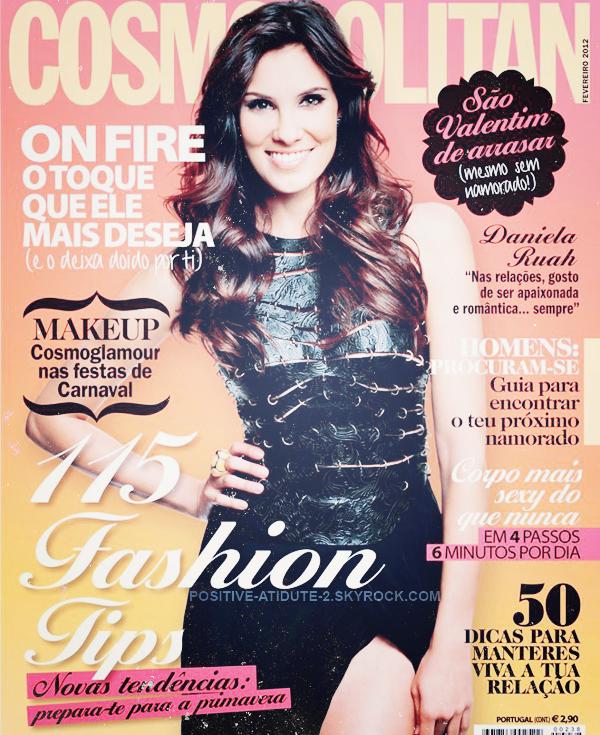 Daniela Ruah en couverture du magazine Cosmopolitan du mois de Février 2012 au Portugal