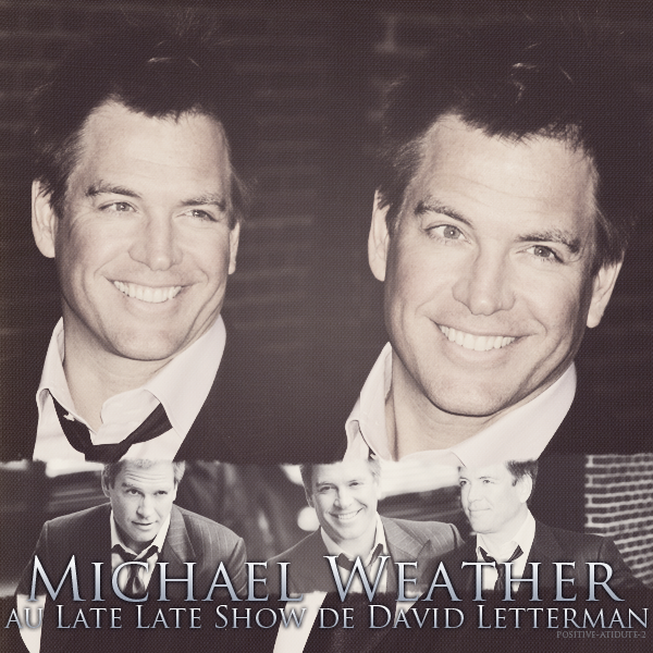 -13.02.12- Michael Weatherly au Outside the Ed Sullivan Theater for The Late show avec David Letterman