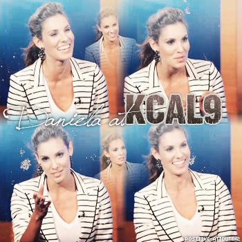 """-27.02.12- Après son apparition au """"KTLA5 Morning"""" et au """"The Talk"""" Daniela Ruah était aussi au  KCAL9"""
