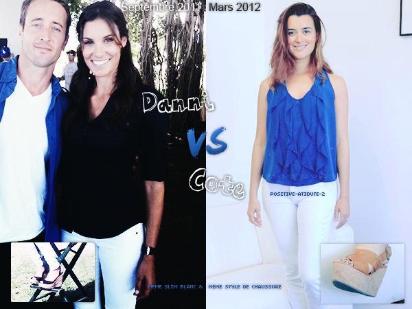 COMME UN AIR DE DEJA VU... Qui des actrices de NCIS porte le mieux cette tenue? Danni ou Cote?