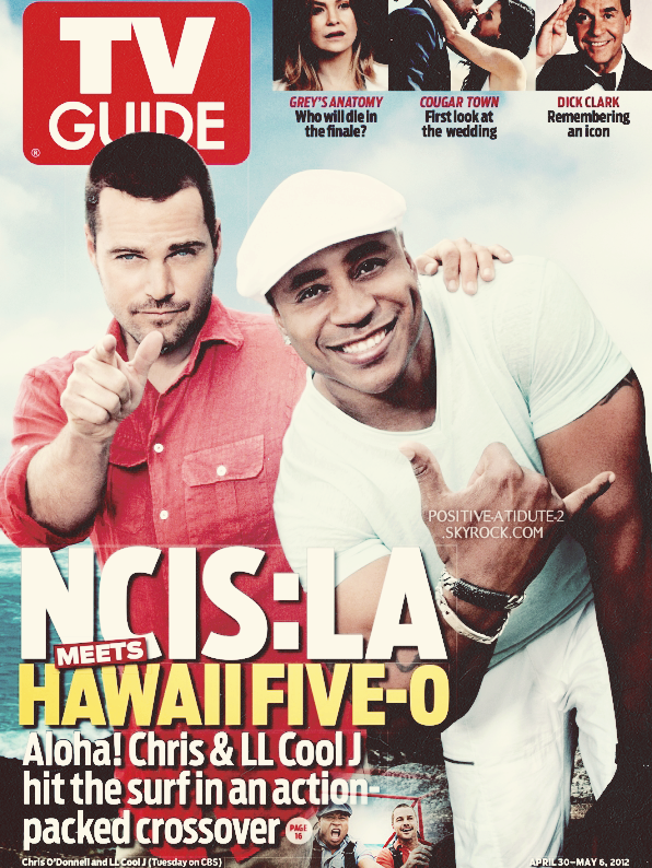 Chris O'Donnell et son co-star LL Cool J en couverture de TV Guide pour le crossover avec Hawaii 5-0