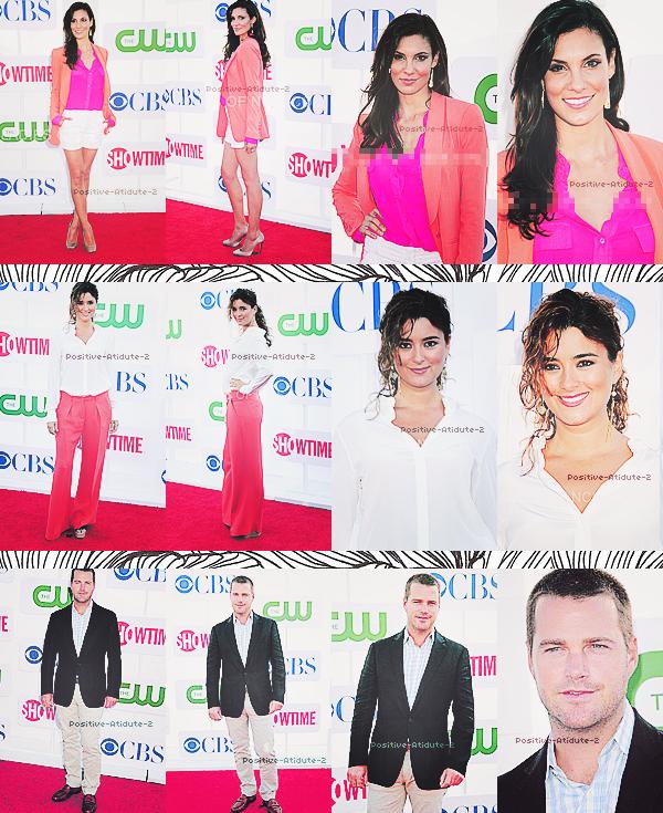 29/07/12 - Michael Weatherly, Chris O'Donnell, Cote De Pablo et Daniela Ruah aux TCA's 2012