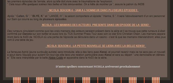 Découvre les spoilers concernant les nouvelles season de NCIS et NCIS Los Angeles prévue pour Septembre