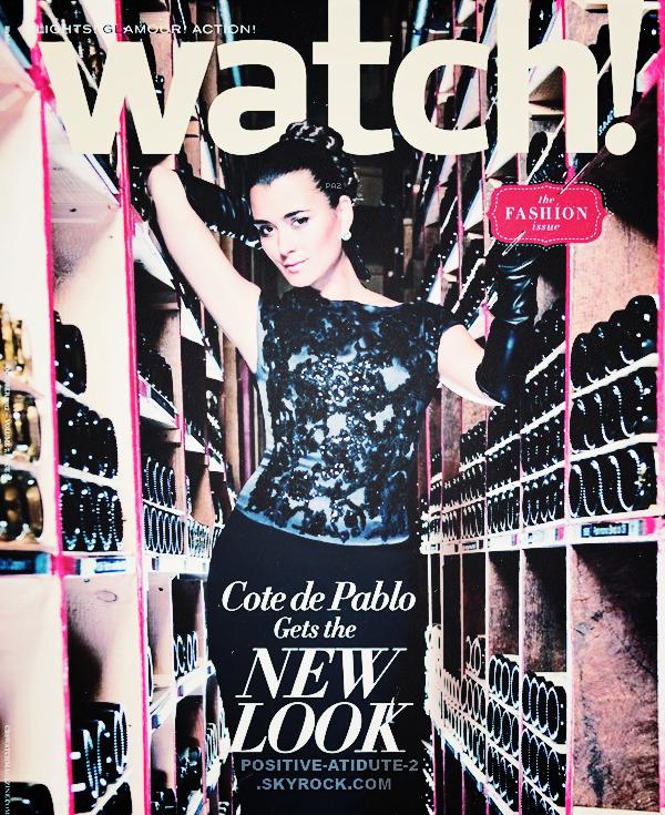 Notre magnifique et talentueuse Cote De Pablo en couverture de Watch! du mois de Septembre 2012