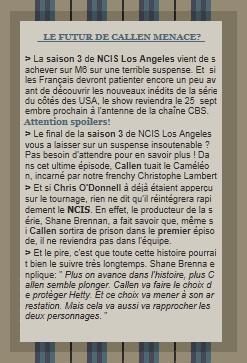 Nouveau spoiler concernant le personnage de Chris O'Donnell dans la season 4 de NCIS Los Angeles