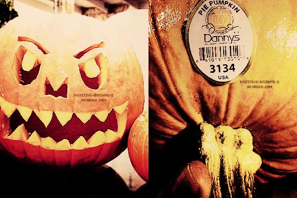 Daniela Ruah semble prête pour fêter Halloween vu qu'elle à postée deux photos de sa citrouille sur twitter