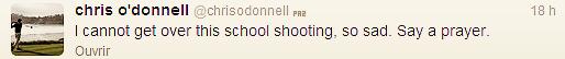 Suite au tragique drame de la fusillade dans une école primaire dans le Connecticut ( Etat-Unis ), quelques  acteurs des séries à succès ont tenue personnellement à laisser quelques mots via leur twitter