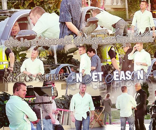 31/01/13 - Chris O'Donnell à était aperçut sur le tournage de NCISLA entrain de diriger un épisode