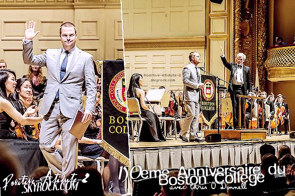 23/03/13 - C'est en costard que notre beau Chris O'Donnell était présent pour les 150ans du Boston College.