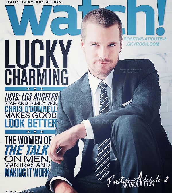 Notre beau Chris O'Donnell en couverture du magazine Watch prévue pour le mois d'Avril 2013