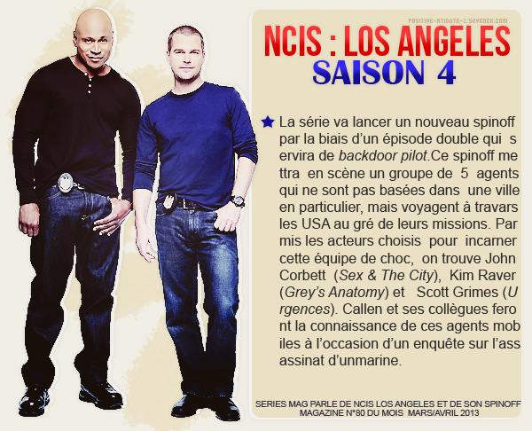 """Le magazine """" Série Mag """" du mois de Mars/Avril 2013 parle des séries NCIS et NCIS Los Angeles"""