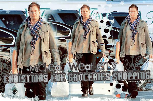 24/12/13 - Michael Weatherly à été vu entrain de faire les courses pour le réveillon de noël dans Los Angeles.
