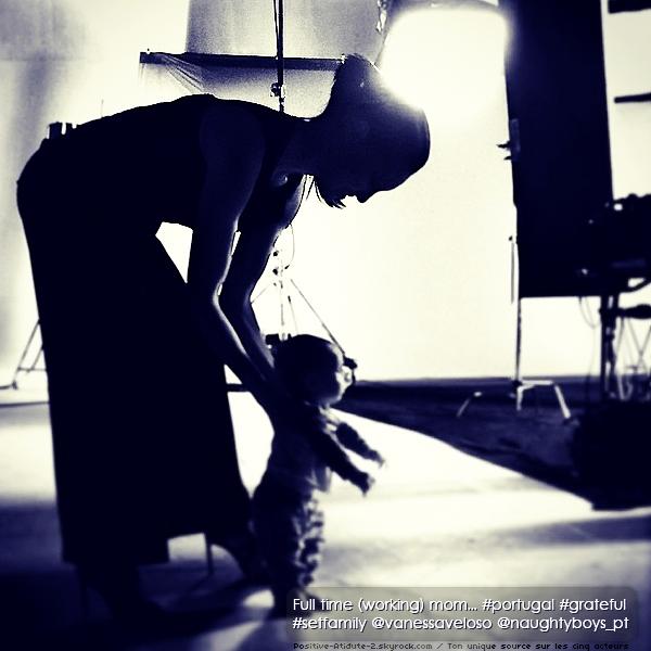 Daniela Ruah poste une photo d'elle et de son fils River pendant la pause de son nouveau shoot au Portugal