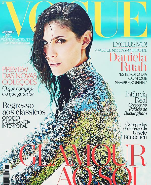 """Notre belle Portugaise, Daniela Ruah en couverture du magazine portugais """" Vogue """" du mois d'Août."""