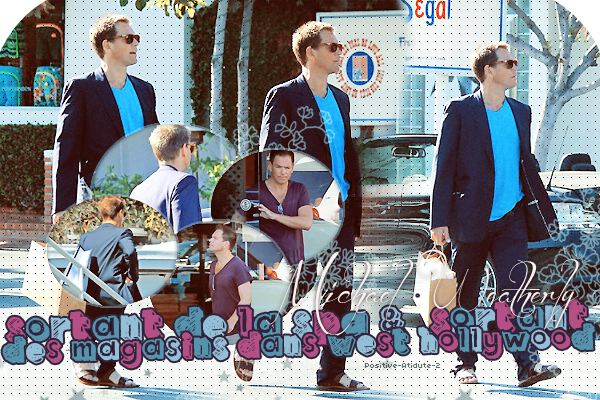 10&17/07/14 - Michael Weatherly sortant de la SPA et Fessant les magasins dans West Hollywood.