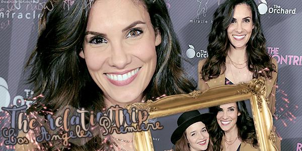 """11/01/18 - Daniela Ruah à la première de """"The Relationtrip"""" avec sa co-star Renée Felice Smith."""