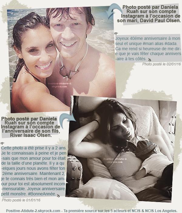 01&02/01/16 - Daniela Ruah souhaites un joyeux anniversaire aux deux hommes de sa vie sur Instagram.