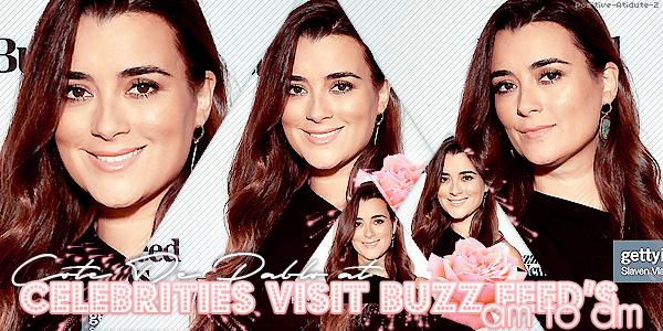 """23/09/19 - Notre belle Cote De Pablo était l'invitée de l'émission """"Buzz Feed's AM TO DM"""" à NY."""
