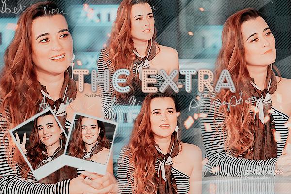 """12/11/19 - Notre belle chilienne, Cote De Pablo était l'invitée de l'émission """"The Extra"""", le jour de son anniversaire."""