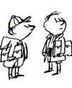 Deux petits garçons à l'arrêt de bus