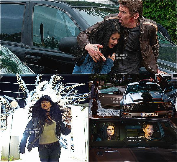 .♦●  THE GETAWAY : ZOOM FILM  ●     ♦  le film d'action THE GETAWAY avec Ethan Hawke Dans ce film, qui à la base est un remake du vieux film d'action, Selena joue le rôle de « The Kids » un des personnages principaux du film                   Selena Gomez partagera l'affiche avec le grand acteur Ethan Hawke qui lui tiens le rôle principale du film, celui de « Brent »                    • Avant-première du film : • L'avant-prémière mondiale aura lieu le 26/08/13 à Los Angeles ! AS-TU HÂTE DE LE VOIR?