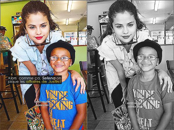 Découvrez une nouvelle photo adorable d'hier de Selena en compagnie d'un fan