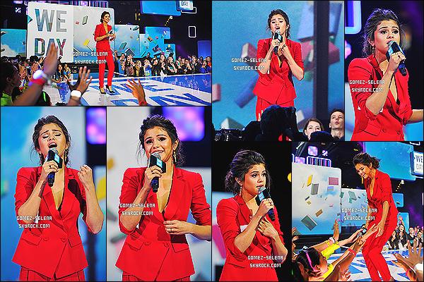 26/03/14 : Comme plusieurs stars, Selena était présente lors du We Day, se tenant à Los Angeles cette fois-ci.  Comme prévue (information donné) plus tôt, miss Selena Gomez présentait lors de l'événement de la fondation américaine : We Day.