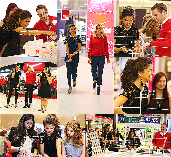20/11/13 : Selena Gomez était à l'ouverture du magasin « The Verizon Destination » dans le Mall Of America.  L'inauguration avait lieu à Bloomigton, et Selena était l'invitée de marque pour le lancement. Selena a fait un M&G, avec ses fans !