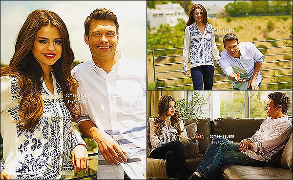 Selena donnait une interview avec   Ryan Seacrest  et va être diffusée le 21 juillet 2013